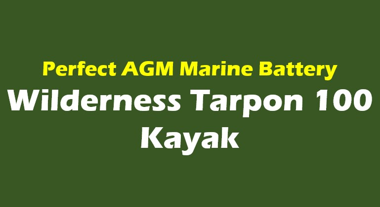 wilderness tarpon 100 kayak battery