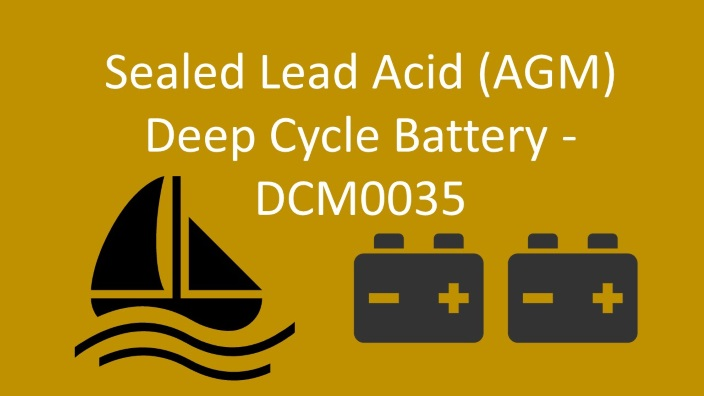 sealed lead acid - dcm0035 replacement battery