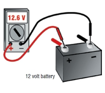test a deep cycle battery with a multimeter